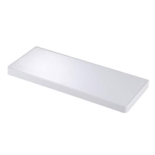 KES Badezimmerablagen Duschwagen Duschwanne Duschecke Korb Aufbewahrungsbox Hängeregal Wandhalterung Weiß,BSC601