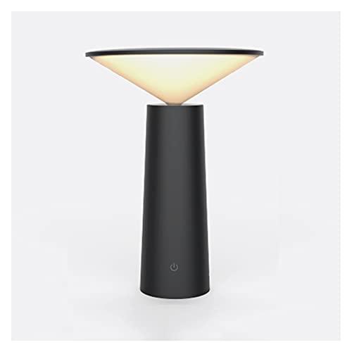 Lámpara Escritorio LED Lámpara de protección de ojos creativa Control táctil regulable Lámpara de escritorio Lámpara de mesa Lámpara de noche de dormitorio con función de memoria y puerto de carga USB