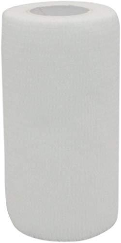 PintoMed No More povera aderenza. - Bianco Garza Elastica, 6 Rotoli x 10 cm x 4.5 m autoadesiva Flessibile Bende, qualità Professionale, Primo Soccorso Sports Wrap Bende - Confezione da 6