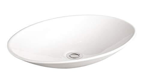Grünblatt Waschbecken Aufsatz-Waschschale mit Lotus Effekt Nano-Beschichtung (50x36x10)