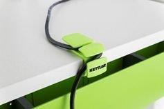 Kettler Grün Zubehör für Schreibtische: Kabelsammler (2er-Set) Plastik 6 x 4.5 x 3 cm