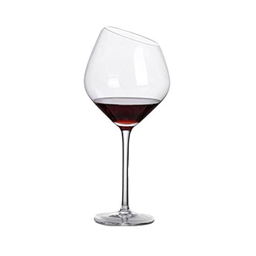 DAMAIA Copa de Cristal Boca Oblicua Copas de Vino Tinto Copa de Vino Tinto Champán Copa de Vino Burdeos Alta Creativa Copa de Vino