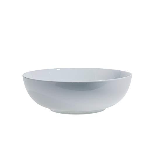 Denmark White Porcelain Chip Resistant Scratch Resistant Commercial Grade Serveware, 13' Round Deep Serving Bowl