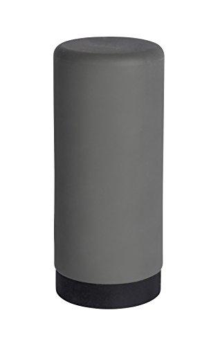 Wenko Spülmittelspender Easy Squeez-e, Spender für Spülmittel in der Küche, Seifenspender aus Silikon, Fassungsvermögen 250 ml, Ø 6 x 14 cm, grau