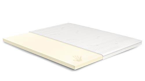 MAVI.550 7cm Visco Topper 180x200 cm - Tencel Bezug mit 3D-Mesh-Klimaband & Stegkante - 5cm Visco RG 50 - Matratzenauflage 180x200 für Ihr Bett