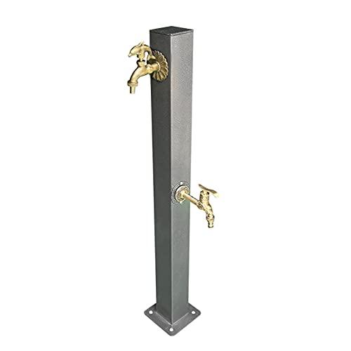 household items Courtyard Grifo doméstico de Acero Inoxidable para Exteriores, Columna de Grifo de latón Decorativa de Doble Interruptor, se Puede Combinar con un Carrito de tubería de Agua
