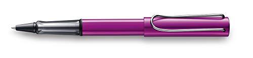 LAMY AL-star Tintenroller Sonderedition 399 – Rollerball aus Aluminium in der Farbe Vibrant Pink mit transparentem Griffstück und verchromtem Metallclip – Strichbreite M