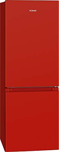Bomann KG 320.2 / Frigorífico/congelador / 122 L/Congelador 43 L/Descongelación automática / 160 kWh/Rojo