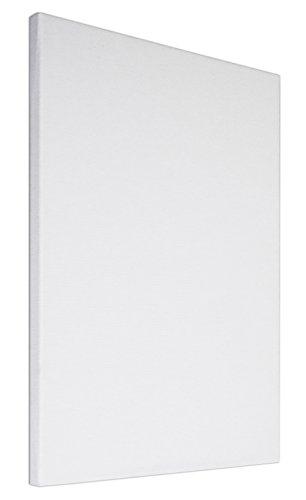 Arte & Arte 7136.0 Telaio con Tela per Pittori, Legno di Abete/Cotone, Bianco, 30x30x1.7 cm, Made in Italy