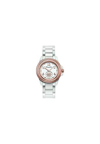 Thomas Sabo Damen-Uhren Rund Analog Quarz One Size Weiß/rosé Keramik 32002018
