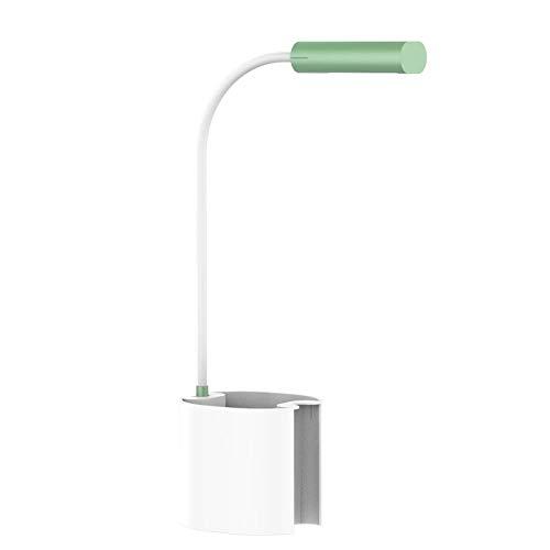 Mesa de escritorio LED Cordero con portalápices y tubo plegable Luz portátil regulable recargable USB para niños Study-green_0-5W