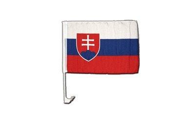 Flaggenfritze Autofahne Autoflagge Slowakei - 30 x 40 cm
