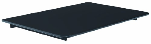VonHaus Floating Shelf Bracket for Sky Box, PS4 or Xbox - Single Black Glass Mount