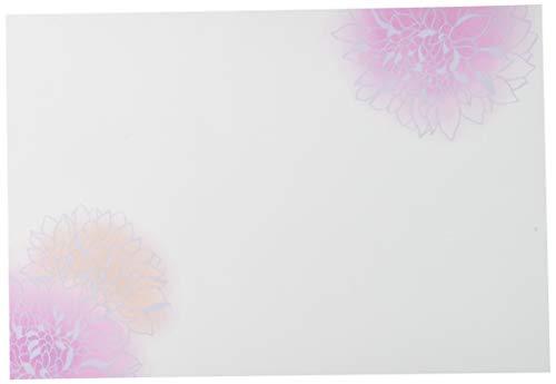 若泉漆器 上質紙マット 尺3寸長手テーブルマット 花木シリーズ 芍薬(しゃくやく) 100枚入 B-25-78