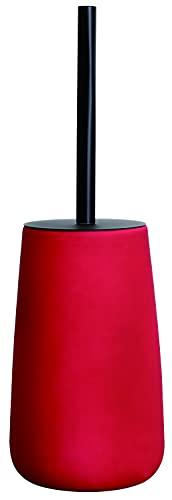 O Touch - Soporte para escoba (cerámica, tacto suave), color rojo