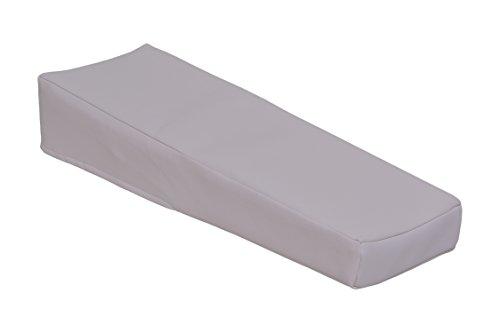Injektionskissen,Infusionskissen,Schaumstoff 45 x 15 x 10/ 5 cm aus Kustleder, weiß