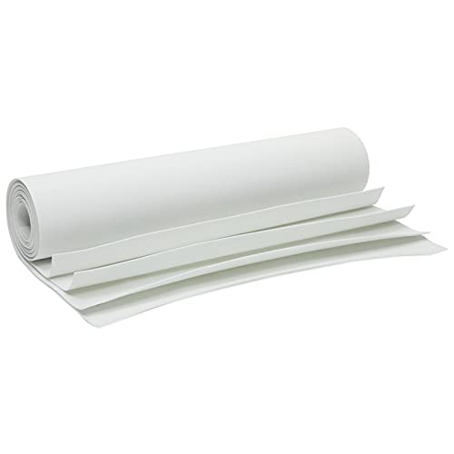 White EVA Foam Sheets for Cosplay, Kids Arts and Crafts Supplies (1mm, 13.7 x 39 in, 4 Pack)