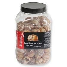Sabarot Helix Lot de 96 coquilles d'escargots Healix 50 g