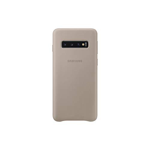Leather Cover für Galaxy S10 Grau