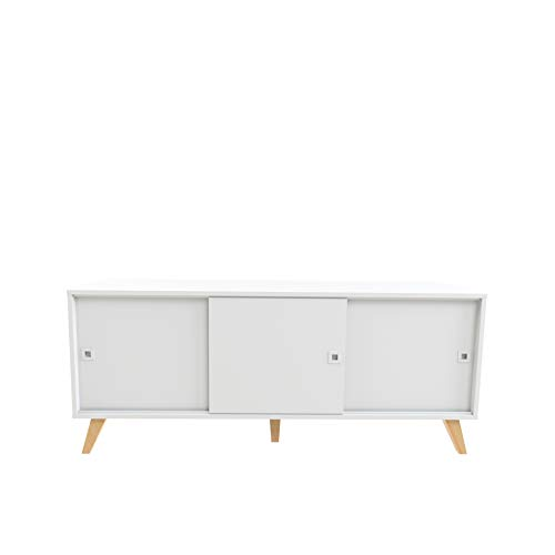 Marca Amazon - Movian Enol - Aparador, 149 x 40 x 61.8 cm (largo x ancho x alto), blanco