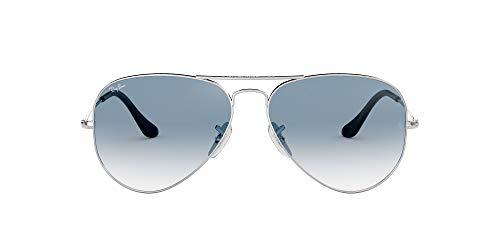 Ray-Ban RB3025 Aviator Occhiali da Sole Unisex Adulto, Argento (Silber 003/3F), 55 mm