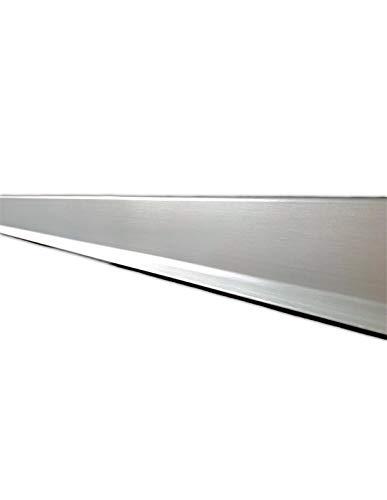 Jardin202 70mm alt. 3m larg. - Rodapie Aluminio Labio Inferior Plata 3m