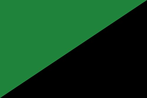 magFlags Drapeau Large Darker Green and Black | Darker Version of The Green Anarchism Flag | Drapeau Paysage | 1.35m² | 90x150cm