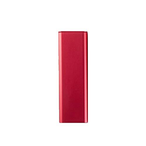 Portátil simple caja de lápiz de los efectos de escritorio del estudiante de hierro Creative Box metal de aluminio multifuncional estudiantes universitarios de lápiz del bolso (Color : Red)