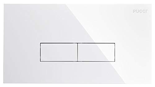 9560 Nuova Placca Bianca Pucci ECO (2 PULSANTI) cm 33x18 spessore 12 mm con telaio porta placca