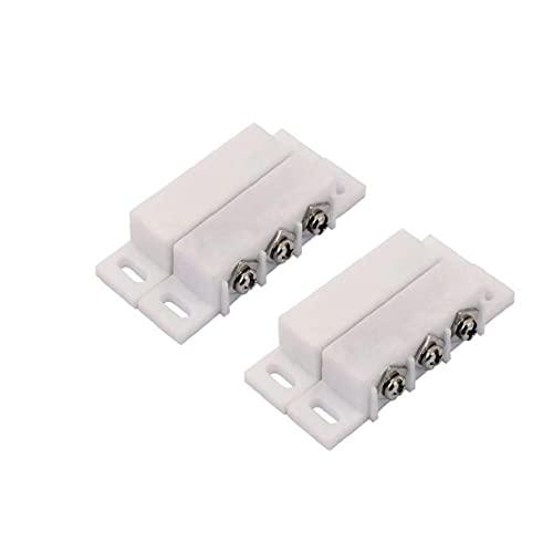 Interruptor de Lengüeta alarma normalmente abierto cerrado NC NA ventana de la puerta de seguridad del sensor de contacto Conjunto DC 5V 12V 24V 2 piezas, Switch