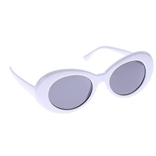 SASCD Retro Gafas Gafas de Sol de Rap Oval Sombras Lentes Altas Ventas de conducción al Aire Libre Deportes Moda Conductor Gafas de Regalo (Color : Reallimeslice)