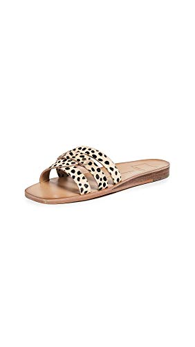 Dolce Vita Women's Cait Slides, Leopard, Print, Tan, 6 Medium US