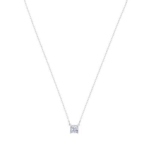 Swarovski Attract Halskette, weiss, Rhodiniert
