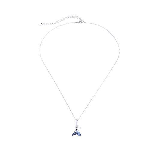 ZWP Mermaid Fashion Halskette Dream Pearl Diamond Whale Tail Schlüsselbeinkette Big Fish Forest Begonia Halskette