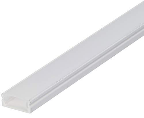 SET: LED Profil, 100cm Profil LED für LED Streifen, aluminium led profil LT4 + Abdeckung (Weiss Milchig)
