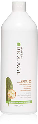 BIOLAGE 3Butter Control System Conditioner | Nourishes & Detangles To Define Curly Hair | For Unruly, Dry Hair | 33.8 Fl. Oz.