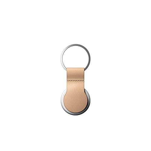 Nomad - Coque porte-clés pour AirTag en cuir - Beige - NM01016885