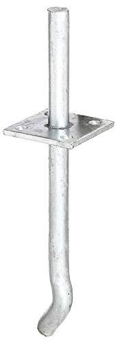GAH-Alberts 215446 I-Pfostenträger mit Stift | zum Einbetonieren | feuerverzinkt | Stiftlänge 100 mm | Betonanker 200 mm | Stift-Ø 16 mm