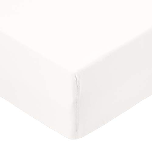 Amazon Basics FTD, Sábanas Ajustables, 90x190x30cm, Crema
