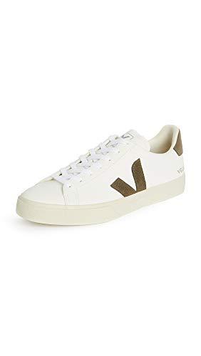 Veja Sneaker Campo Chromefree Da Uomo In Pelle Bianca E Verde