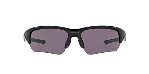 Oakley Men's OO9372 Flak Beta Asian Fit Rectangular Sunglasses, Polished Black/Prizm Grey, 65mm