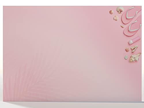 Protector de escritorio de papel DIN A3, bloc de arranque, diseño 'Pretty in Pink', 25 hojas de vade de escritorio A2, papel con motivo, bloc de notas, paperandpicture