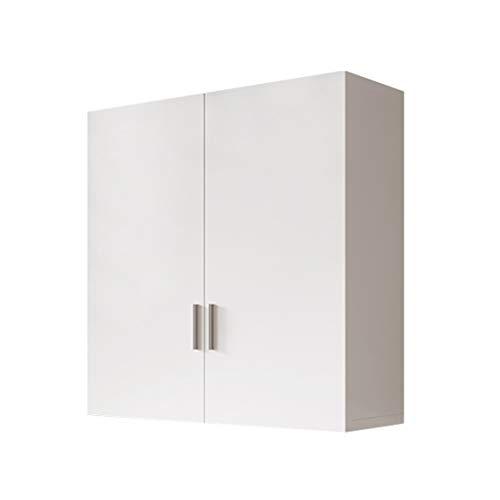 Kök väggskåp Väggförvaringsskåp sovrum Väggskåp garderobskåp Överskåp för förrådslager Badrumsskåp för dagliga behov (Color : White, Size : 60 * 60 * 30cm)