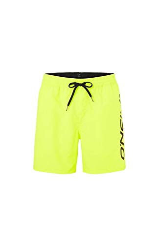 O'NEILL PM Cali Shorts Boardshort Elasticated para Hombre, Hombre, New Safety Yellow, L