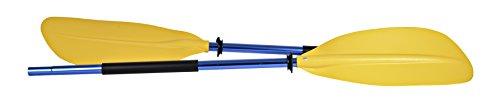 H2O Kayak Paddle asimétrico 220cm, color amarillo