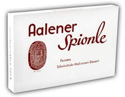 s-idee® Aalener Spionle Feingebäck 20 Stück Feinschmelzende Zartbitterschokolade Nussnougatcreme Marzipanmakronenboden