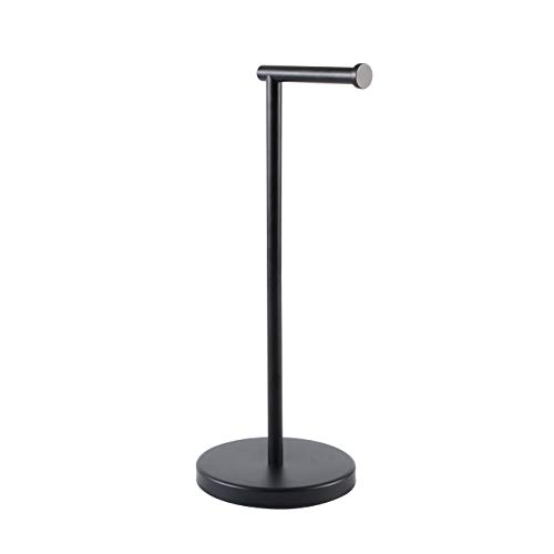 KES Bathroom Toilet Paper Holder Stand Modern Tissue Roll Holder SUS304 Stainless Steel Rustproof Freestanding, Matte Black BPH283S1-BK