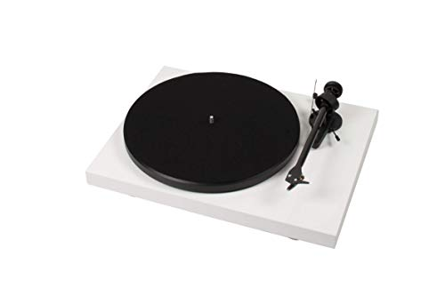 Pro-Ject Debut Carbon OM10 - Tocadiscos (230-240 V, 50/60 Hz, 415 x 320 x 118 mm, 5,600 kg, 30 cm), color blanco