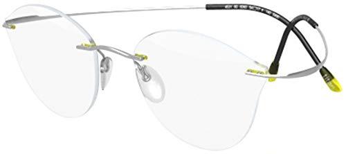 Silhouette Gafas de Vista TITAN MINIMAL ART PULSE 5490/4531 Silver Yellow 54/17/140 mujer