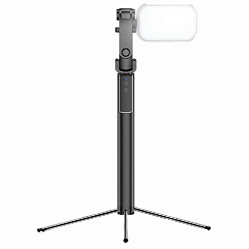 Lámpara de pie LED con trípode, lámpara de pie Moderna con Soporte para teléfono móvil e Interruptor de Control Remoto, lámpara de pie multifunción para Video